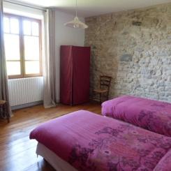 Chambre 3 places- gîte vercors