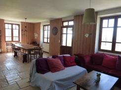Salon et salle à manger 16 places- gîte vercors