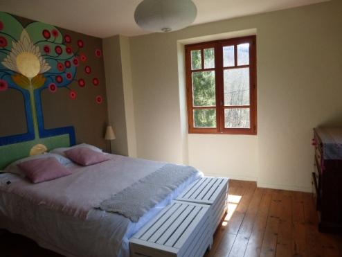 chambre double- gîte vercors